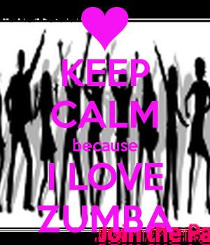 Keep Calm Because Love Zumba