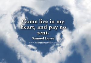 Come live in my heart – Cute & Sweet Love Quote Picture