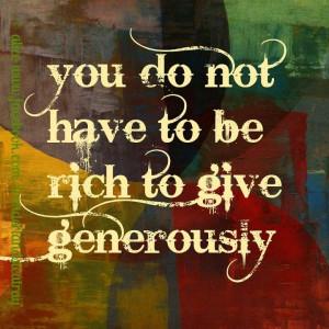 Generosity is free .... . . www.stmarys-stuart.org