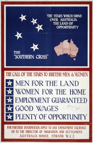 ... stating the need for British men and women to immigrate to Australia