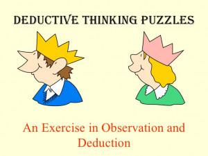 Logical Thinking Quotes 12 deductive thinking puzzles