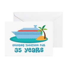 35th Anniversary Cruise Greeting Card for