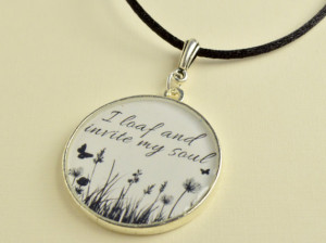 Whitman Leaves of Grass Necklace With Quote from Song of Myself Poem ...