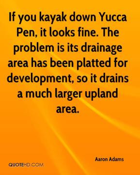 Aaron Adams - If you kayak down Yucca Pen, it looks fine. The problem ...