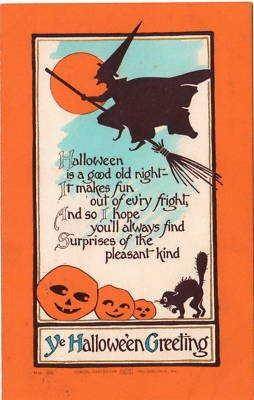 Vintage Halloween Postcard- Samuel Carpenter