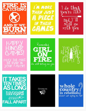 Katniss. Peeta. Gale. Effie. Cinna. Haymitch. Finnick. Snow. Johanna.