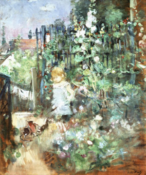 Child among Staked Roses - 1881