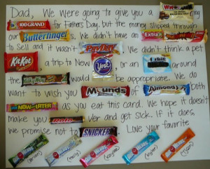 25. Father's Day Candy Gram Poster ~ I just love the thoughtful ...