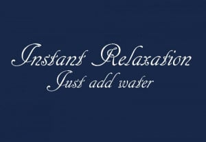 Instant relaxation wall sticker quote qu16