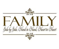 ... Family Wall Quote Lettering Vinyl Decals 22h x 36w QT0106 via Etsy