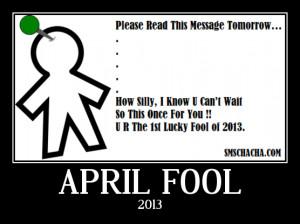April Fool Advance