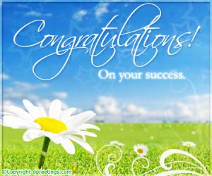 ... congrats e cards, free online success cards, congratulation on success