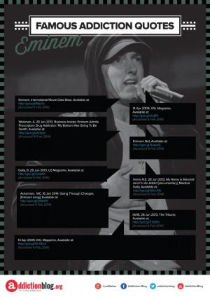 Eminem's statements about drug abuse