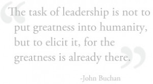 Quote by John Buchan.