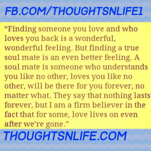 thoughtsnlife, love quotes, soul mate quote, finding someone you love
