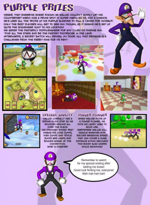 If Waluigi was in SM64DS, What power woud you make him?