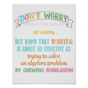 don't worry poster - from