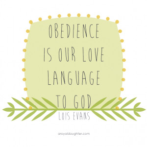too struggle with obedience. Being knee or waist deep in muddy ...