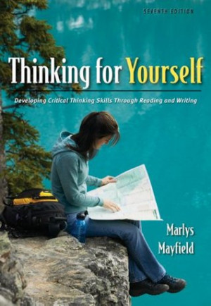 """... Critical Thinking Skills Through Reading and Writing"""" as Want to"""