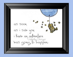 Adventure quote from Winnie the Pooh - 5x7, INSTANT DOWNLOAD
