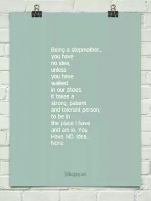 Being a stepmother...
