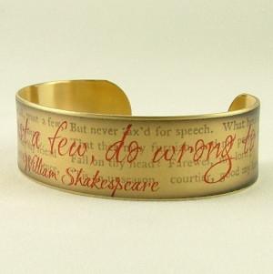 ... Well- Shakespeare Quote SLIM Brass Cuff Bracelet. $30,00, via Etsy