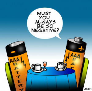 Cartoon: Negative (medium) by toons tagged batteries,negative,positive ...