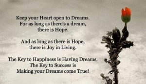 ... the key to success is making your dreams come true dreams quotes
