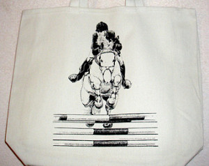 Hunter/Jumper HORSE and Rider -- Coming&Going XL 100% Cotton Canvas ...