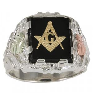 Black Masonic Rings