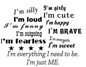 Details about I'm just me girl inspirational brave quote wall vinyl ...