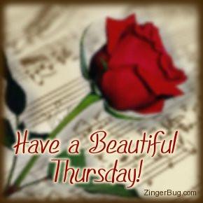 happy thursday music rose