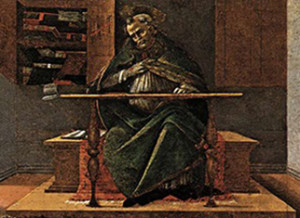 """St. Augustine in His Study"""" by Sandro"""