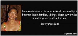 in interpersonal relationships - between lovers families, siblings ...