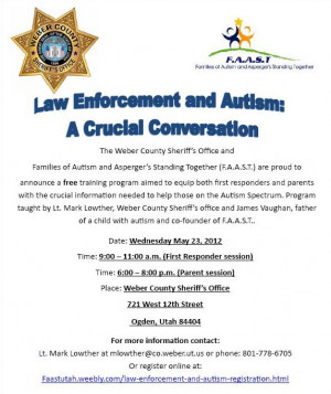 Law Enforcement and Autism - Free Training in Ogden, UT