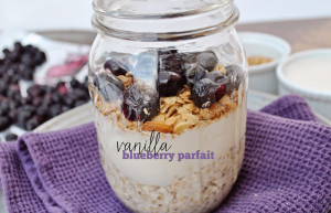 Recipe: Single Serving Vanilla Blueberry Yogurt Parfait