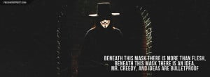 For Vendetta Beneath This Mask Quote Wallpaper