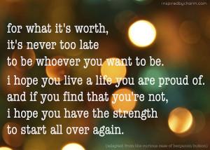 start all over again