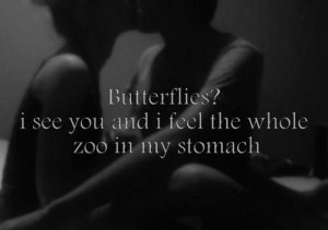 black and white, boy, butterflies, girl, love, quote, quotes, so true ...
