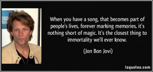 More Jon Bon Jovi Quotes