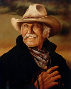 Lonesome Dove Portrait Painting in Oil - Gus McCrae - Robert Duvall of ...