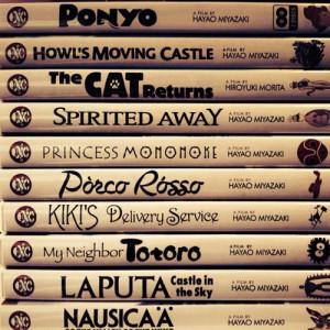 lot of them are similar to Spirited Away and Princess Mononoke. :)