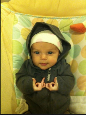 And last but not least, our favourite gangster baby that really has ...