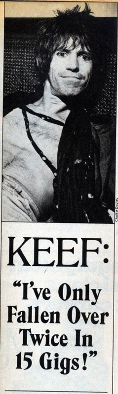 Keith Richards ' quote immortalized by Creem Magazine.