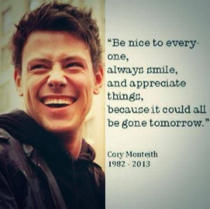 Cory Monteith Quotes Cory monteith quote