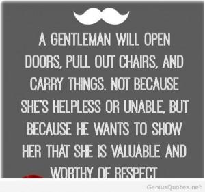 Gentleman quote open doors
