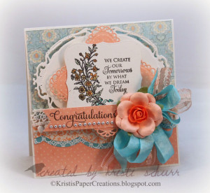 was able to snag some card making time too and made this card to ...
