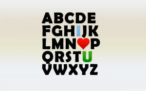 Alphabet I Love You Quote High Resolution Wallpaper, Free download ...
