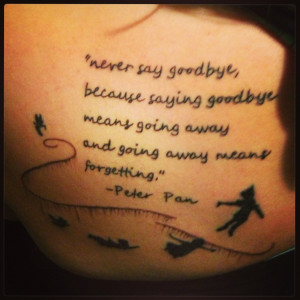 peter pan quotes goodbye