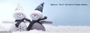 Enjoy Winter Life Custom Quote fb Cover